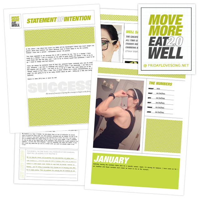 Move More Eat Well January - fridaylovesong.net