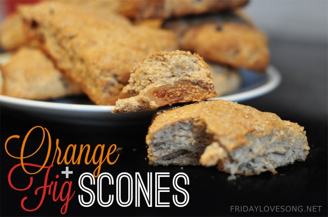 Orange + Fig Whole Wheat Scones With Chobani | fridaylovesong.net