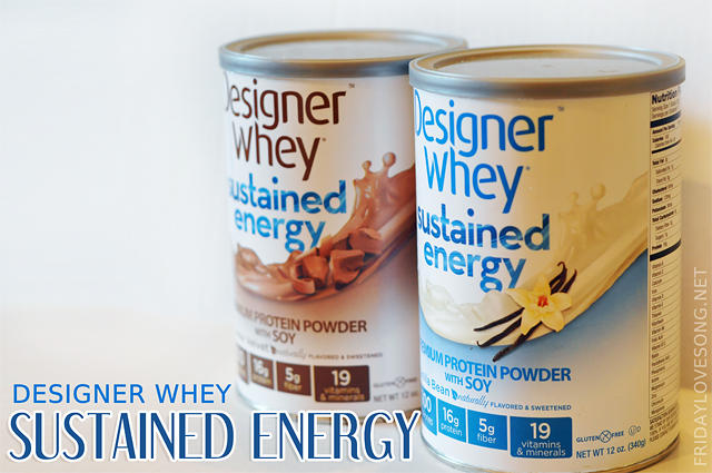 Designer Whey Sustained Energy Protein & A Giveaway - fridaylovesong.net