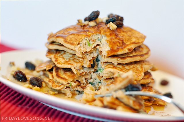 Zucchini Bread Pancakes Recipe — Dishmaps