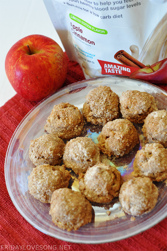 Apple Cinnamon Protein Doughnut Holes | fridaylovesong.net