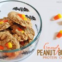 Candy Corn Peanut Butter Protein Cookies