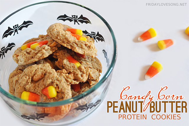 candy-corn-peanut-butter-protein-cookies
