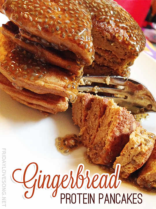Merry Christmas + Gingerbread Protein Pancakes - fridaylovesong.net