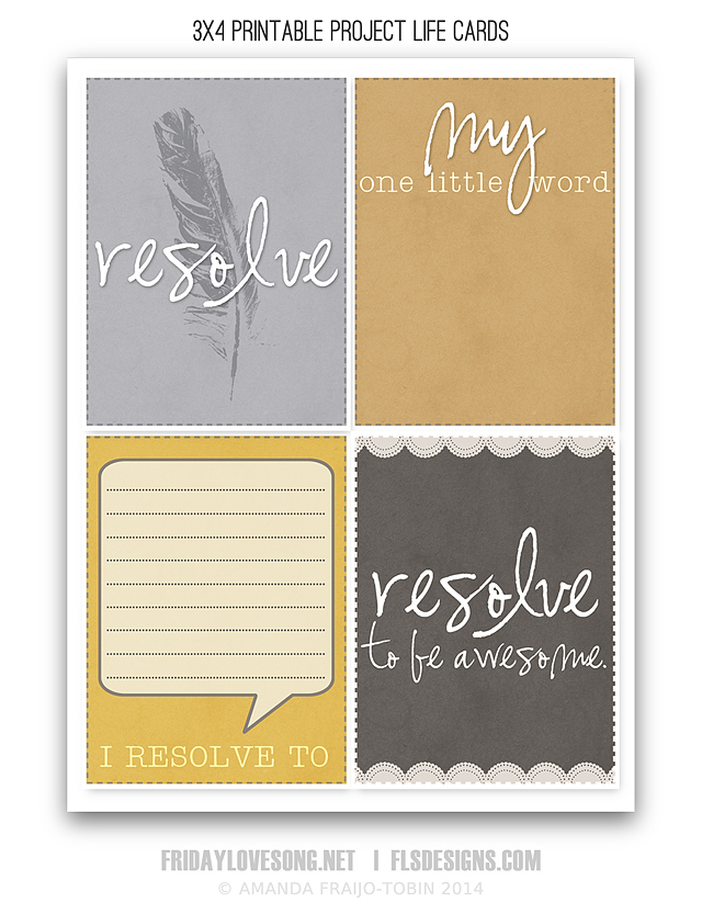 FLS Project Life Cards Printable | fridaylovesong.net