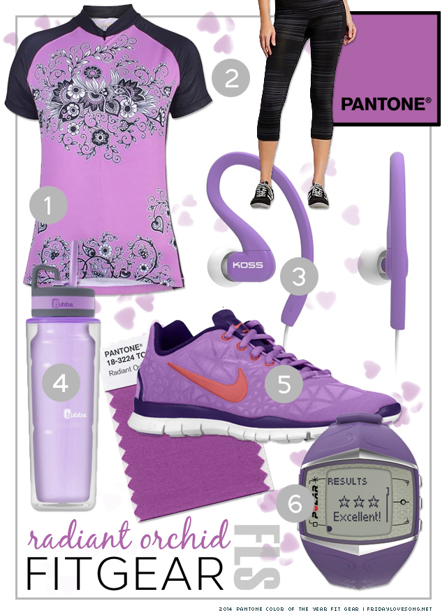 Pantone Color Of The Year: Radiant Orchid Fit Gear | fridaylovesong.net
