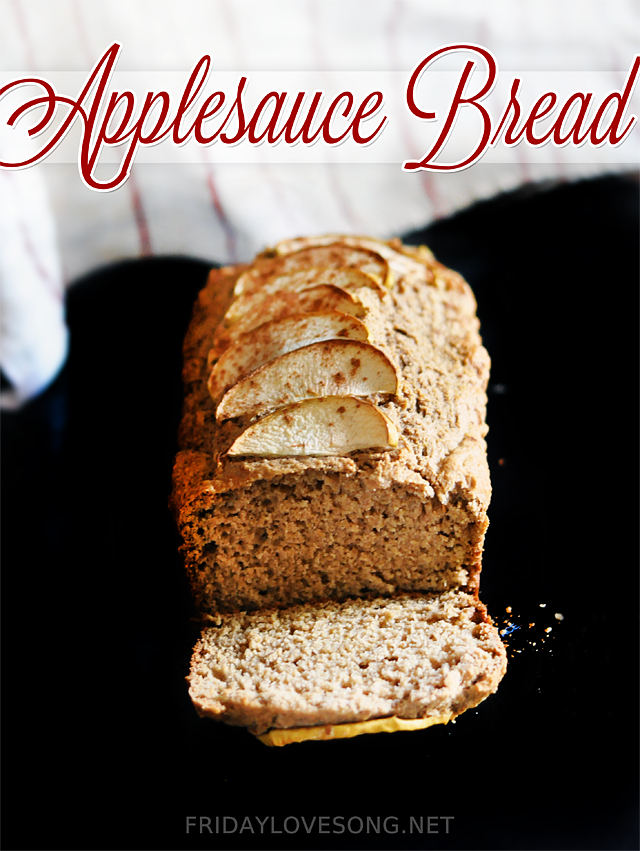 Whole Wheat Applesauce Bread - fridaylovesong.net