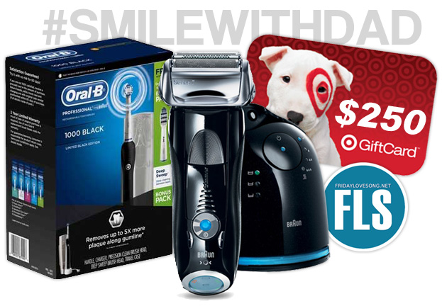 #smilewithdad #oralbsweeps Awesome Prizes including a $250 @Target Gift Card | fridaylovesong.net
