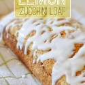 Lemon Zucchini Bread With Sugar Free Glaze