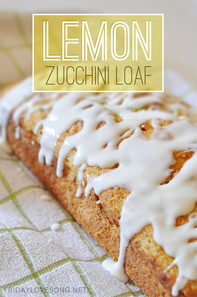 Lemon Zucchini Bread With Sugar Free Glaze - fridaylovesong.net