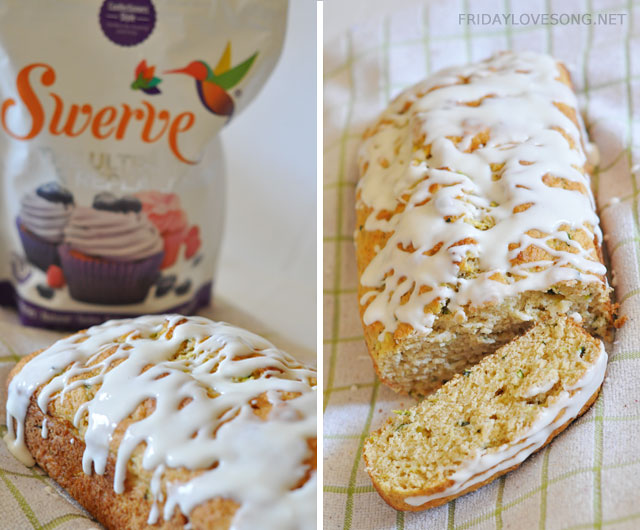 Lemon Zucchini Loaf with Sugar Free glaze | fridaylovesong.net #swerve #sugarfree #baking